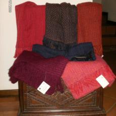 Sciarpe artigianali tessute a telaio