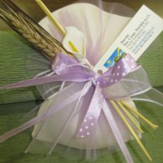 Bomboniera solidale sacchetto lilla