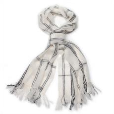 sciarpa-bianca-e-righe-nere